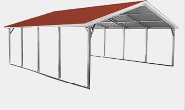 Open Vertical Roof Carport